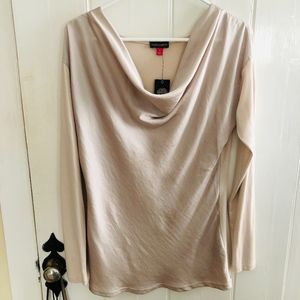 VINCE CAMUTO Cowl Neck Top in Light Cream Size S